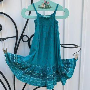 OLD NAVY 12-18 M Teal Floral Boho Baby Maxi Dress